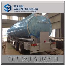 DOT 28cbm 2 essieux Shiny Aluminium Road Tank Trailer