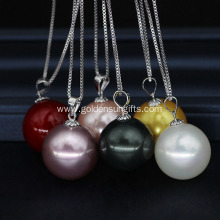 16MM Colorful Shell Pearl Pendant Necklace