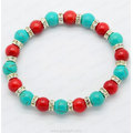 Red Coral Turquoise bracelet