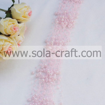 Perzik roze 3 + 8MM Faux parel kralen Garland voor decoratie