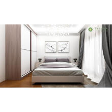 Luxury King Bed with High Sliding Door Wardrobe