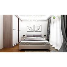 Роскошная двуспальная кровать с высоким шкафом