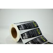 Круглая клейкая водостойкая синтетическая бумажная этикетка на заказ