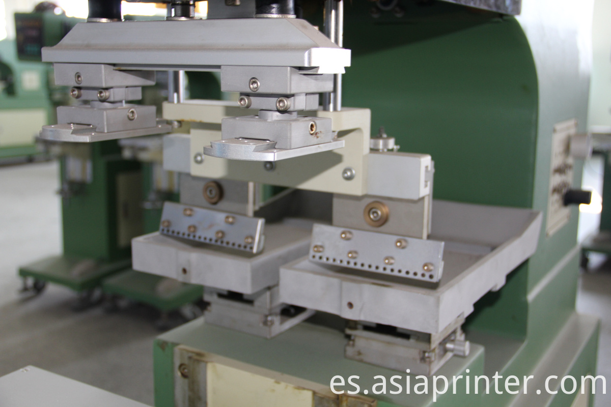 2 color open tray pad printing machine