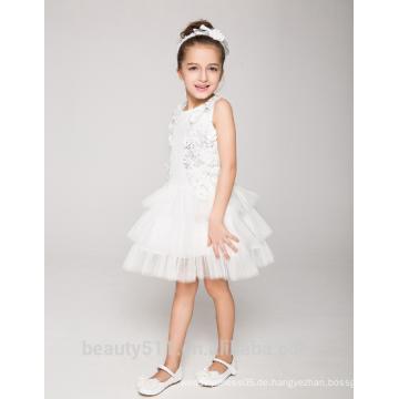 Kleid-Blumenmädchenkleid-Schaufelausschnitt sleeveless sexies Mädchen im heißen Nachtkleid ED778