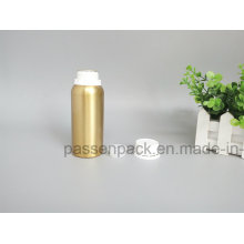 Goldene Aluminiumflasche mit weißer Tamper Proof Cap (PPC-AEOB-020)