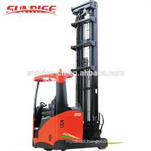 Alibaba hot sale 12.5m height 2T electric reach stacker