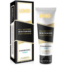 Organic Coconut Oil & Xylitol Whitening Formula Activated Charcoal Toothpaste