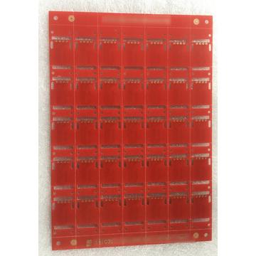 2 layer red solder ENIG castellated holes PCB