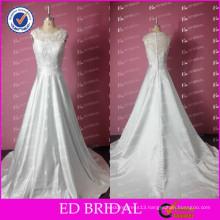 Simple Vestidos De Novias Real Sample A-line Alibaba Wedding Dresses