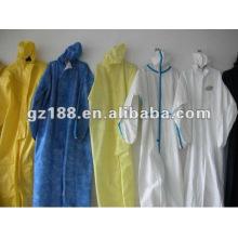 Roupa de exposição, vestido de isolamento SMS, vestido de proteção