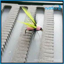 Gelbe und graue beliebte Fliegen von Handmade