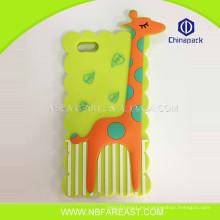 La alta calidad personalizó la nueva caja linda del teléfono móvil de la jirafa del OEM lindo