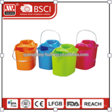 Virgin plastic with wheels mop bucket