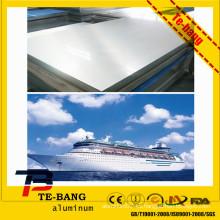 Fabricante de China precio final del molino por kilogramo anchura estándar 5052 5083 hoja marina de la aleación de aluminio del grado h112