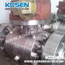 3 pièces forgé des robinets à tournant sphérique en acier (2500LB)