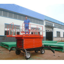 electro-hydraulic four wheels mobile scissor lift tables