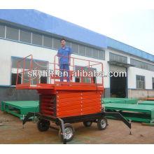 mesas de elevação de tesoura móveis eletro-hidráulicas de quatro rodas
