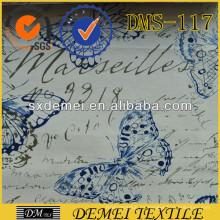 tejido plano de algodón personalizado, impresión personalizada tapicería sofá