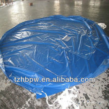 self-clearing & high tensile PVC round tarpaulin