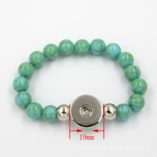 Custom Turquoise Snap Bead Bracelet Fashion Jewelry