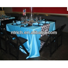 Elegant shiny satin plain table cloth for wedding