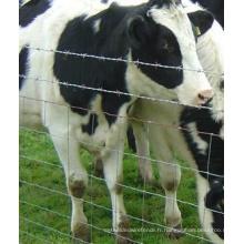 Barrière galvanisée de ferme de bétail de vente directe d'usine, barrière de bétail