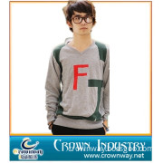 Men's Youth Fashion Knitted V Neck Long Sleeve Pullover Sweater (CW-SWEATER-8)