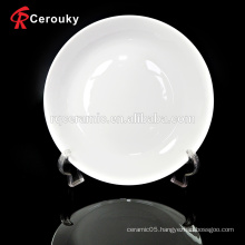 Custom size white banquet ceramic fruit plate