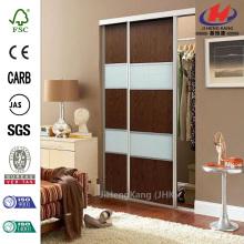 JHK-F01  Magnetic Vent Solid Wood Double Interior Sliding Door