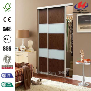 JHK-F01  Magnetic Vent Solid Wood Double Interior Sliding Door