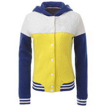 Women′s Fashion Casual Zipper Plain Cotton Hoodie