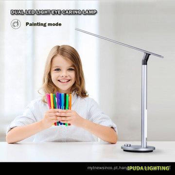 China fábrica de design novo modelo candeeiro de mesa crianças estudo lâmpadas lâmpada de tabela de liga de Alumínio