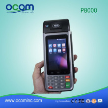 P8000: handheld android mobile pos terminal with printer