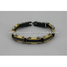 China fornecedor, 2014 moda pulseira de aço inoxidável magnético, charmoso para homens pulseira deus
