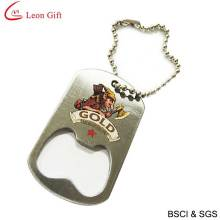 Wholesale Print Logo Dog Tag with Bottle Opener (LM1624)