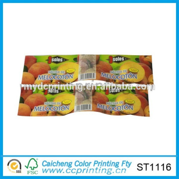 plastic bottle label printing