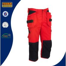 Poliéster de sarga de algodón duraderos reflectantes pantalones de trabajo de alta vis