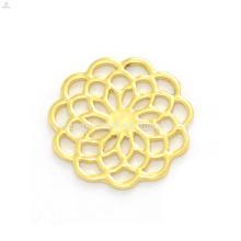 Design élégant 22mm or alliage de zinc fleur fenêtre flottant charme clair verre médaillons pendentifs plaques en gros