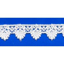 Diseños de encaje marfil caliente venta común recortes de tela cordón químico para la ropa interior