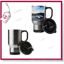 14oz Silver Stainless-Steel Travel Mugs for Sublimation