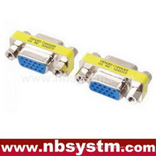 Variador de gênero VGA, db15 fêmea para db15 adaptador fêmea azul