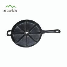 Chapa de pizza de ferro fundido de óleo vegetal / chapa