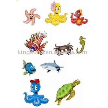 Etiqueta dos desenhos animados 2012