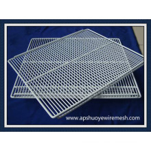Anping OEM PVC beschichtet / Edelstahl Welled Wire Rack / Regal / Körbe