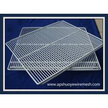 Invólucro / prateleira / cestas soldadas de aço revestido de aço inoxidável do fio do OEM de Anping