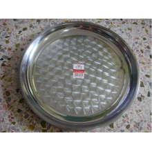 Flower Deisgn Stainless Steel Food Tray