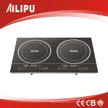 2017 New Model Double Induction Cooktop with Touch Control