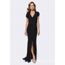 Draped Jersey Formal Evening Dress