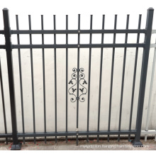 Security Powder Coated Wrought Iron Pool Fence
